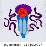 herpetophobia fear of reptiles... | Shutterstock .eps vector #1971019727