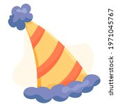 birthday cap. hat for the... | Shutterstock .eps vector #1971045767