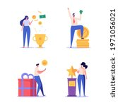 people getting an award and...   Shutterstock .eps vector #1971056021
