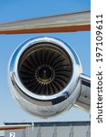 Small photo of BERLIN, GERMANY - MAY 22, 2014: A turbojet engine Pratt & Whitney Canada PW535E of a light business jet Embraer EMB-505 Phenom 300. Exhibition ILA Berlin Air Show 2014