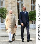 Small photo of The Prime Minister, Shri Narendra Modi meeting the Prime Minister of France, Mr. Edouard Philippe, in France on August 23, 2019.