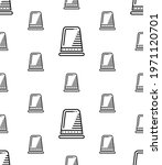 thimble icon seamless pattern ... | Shutterstock .eps vector #1971120701