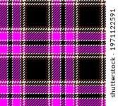 hot pink and black tartan plaid....   Shutterstock .eps vector #1971122591