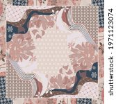 abstract scarf pattern design... | Shutterstock .eps vector #1971123074