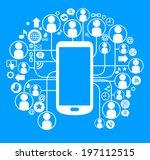 social network telephone.... | Shutterstock .eps vector #197112515