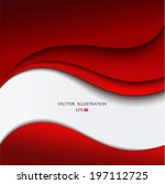 red background curve line on... | Shutterstock .eps vector #197112725
