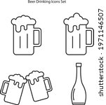 beer mug icons set isolated on... | Shutterstock .eps vector #1971146507