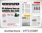 Graphical design newspaper template  | Shutterstock vector #197115389