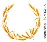 Wheat Ears Wreath Frame...