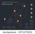 infographics netherlands map...   Shutterstock .eps vector #1971179291
