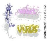 virus. caricature.  humorous... | Shutterstock .eps vector #197118761