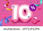 10 percent off. discount... | Shutterstock .eps vector #1971191294