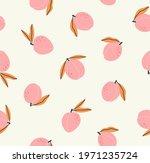 seamless pattern of peach ...   Shutterstock .eps vector #1971235724