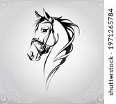 vector silhouette of a horse's...   Shutterstock .eps vector #1971265784