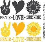 Peace Love Sunshine  Sunflower...