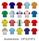football   soccer jerseys  | Shutterstock .eps vector #197127371