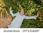 Happy Little Girl In A Cotton...