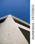 a tall gray building extends... | Shutterstock . vector #197133611