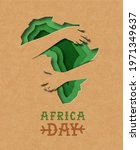 africa day greeting card... | Shutterstock .eps vector #1971349637