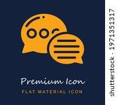 speech bubble premium material...