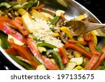 various vegetables being... | Shutterstock . vector #197135675