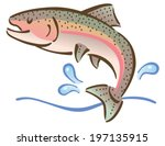 Illustration Of A Fish Jumping...