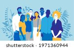 a group of happy young people...   Shutterstock .eps vector #1971360944