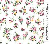 floral seamless pattern. flower ... | Shutterstock .eps vector #1971361637