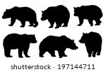 Bear Silhouettes On The White...