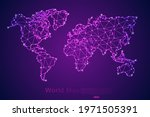 abstract mash line and point...   Shutterstock .eps vector #1971505391