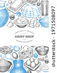 farm food design template. hand ... | Shutterstock .eps vector #1971508097