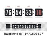 vintage flip clock time counter ...