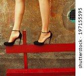 high heels concept. sexy legs...   Shutterstock . vector #197155595
