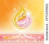 drop serum orange vitamin c and ... | Shutterstock .eps vector #1971559001