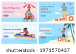 web banners set for lifeguards...   Shutterstock .eps vector #1971570437