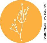 unusual yellow flower  icon... | Shutterstock .eps vector #1971582221
