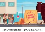 moving into new apartment...   Shutterstock .eps vector #1971587144