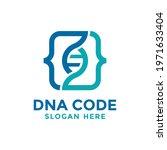 dna code logo template design....   Shutterstock .eps vector #1971633404