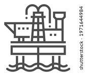oil industry  square line...   Shutterstock .eps vector #1971644984