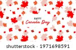 happy canada day banner and... | Shutterstock .eps vector #1971698591