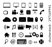 vector of various web icon | Shutterstock .eps vector #197169941