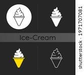 ice cream cone dark theme icon. ... | Shutterstock .eps vector #1971707081