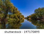 a small river channel in the... | Shutterstock . vector #197170895