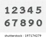 numbers set. illustration | Shutterstock .eps vector #197174279