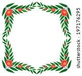 illustration of a plant border... | Shutterstock .eps vector #197176295