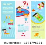 pool party invitations banners. ... | Shutterstock .eps vector #1971796331