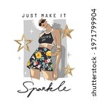 sparkle slogan with fashion... | Shutterstock .eps vector #1971799904