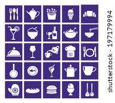restaurant   food icon set  ... | Shutterstock .eps vector #197179994