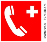 emergency telephone symbol sign ... | Shutterstock .eps vector #1971808571