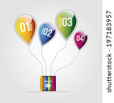 modern design for business info ... | Shutterstock .eps vector #197183957